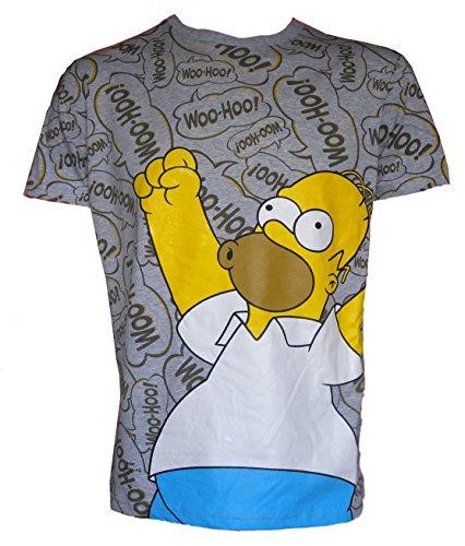 u-wear Mens Simpsons Woohoo Tshirt with 2 Pairs Krusty Clown Socks (XLarge)