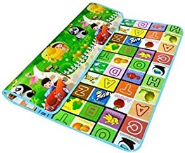 Home Stylish Double Sided Baby Mat Carpet for Kids 4 feet X 6 feet (Multicolour) Design 3
