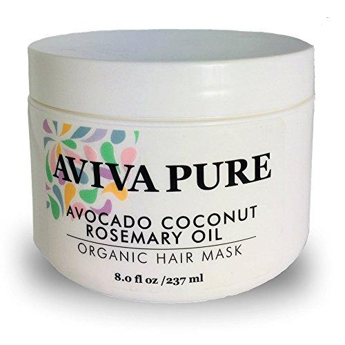 Organic Coconut Avocado Oil Hair Mask for Dry, Damaged Hair and Hair Growth. Hair Mask Treatment....
