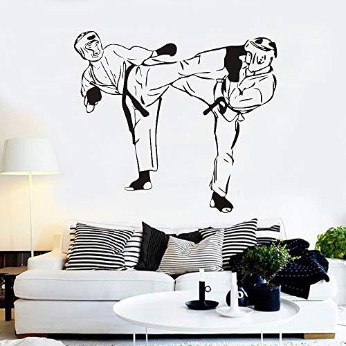 zqyjhkou Karate Kämpfer Vinyl Wandaufkleber Kunstwand Martial Wandtattoo Abnehmbare Sport Aufkleber Home Design Tapeten Wandbild Poster S 47 cm x 42 cm