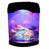 Acuario De Las Medusas NHSUNRAY Caja de luz decorativa del océano artificial Múltiples colores Conveniente para la habitación de los niños dormitorio sala de estar