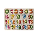 DressLksnf NúMero de Madera Lette Puzzle Jigsaw Aprendizaje Temprano Bebé Niños Juguetes Educativos Juguete de Rompecabezas de Madera de Educación Infantil