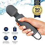Therapeutic Massager by Yarosi - Strongest Cordless Handheld Therapeutic Vibrating Power - Best Rated for Travel Gift - Magic Stress Away - Perfect on Back, Legs, Hand Pains and Sports Recovery GY