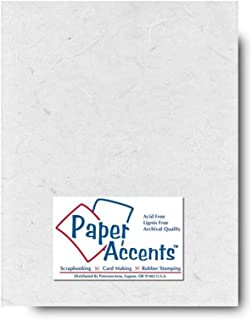 Accent Design Paper Accents 8.5x11 White Mulberry 8.5x11White