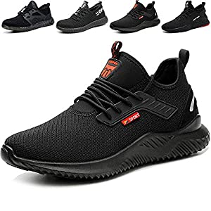 51HEgfVWNQL. SS300  - SUADEEX Zapatos de Seguridad Hombre S3 Transpirable Zapatos de Seguridad Mujer Ligeras con Puntera de Acero Zapatos de Trabajo Zapatos de Industria Unisex