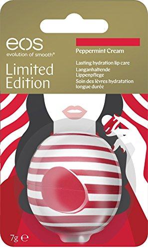 eos Visibly Soft Limited Edition Peppermint Cream Lip Balm, feuchtigkeitsspendende Lippenpflege, Intensiv-Pflege für trockene Lippen, Beauty-Helfer, 1 x 7 g