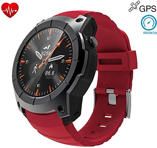 GPS Hombres Inteligentes Deportes al Aire Libre del Reloj SmartWatch Ritmo cardíaco 24H rastreador de Ejercicios IP68 a Prueba de Agua portadora de información TF SIM a la función
