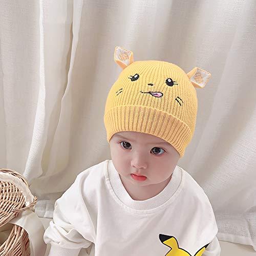 wtnhz Artículos de Moda Gorro de Punto para bebé con Bordado de Gato de Dibujos Animados, Gorro de Lana para niños Lindos, Gorro para bebéRegalo de Vacaciones