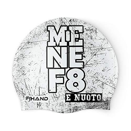 HAND SPORT F8, Cuffia in Silicone, Cuffia Piscina, Cuffia Nuoto,Taglia Unica