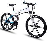 Ebikes, 26 en bicicleta eléctrica plegable 27 Bicicleta de montaña eléctrica de aleación de aluminio con 36V 8AH Batería de litio y amortiguador 350W de alta velocidad Double Do Double Do Double Brake