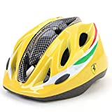 MESUCA Ferrari Kids Helmet Adjustable Sports Protective Gear for Roller Bicycle Bike Skateboard Outdoor Sports (Yellow)