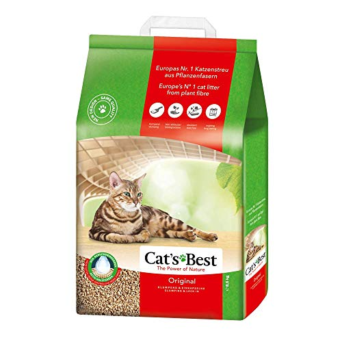 Cat's Best Lecho para gatos Öko Plus, 20L (8.6kg) ✅