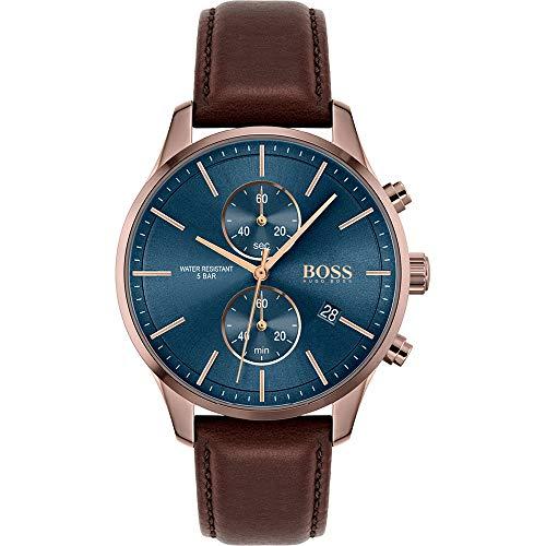 Hugo Boss Quarz Uhr mit Leder Armband 1513804