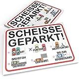 Knöllchen scheisse geparkt! Block | Humoristischer Strafzettel für Falschparker | DIN A6 (14,8 x 10,5 cm) 50 Blatt | Notizzettel für die Auto-Windschutzscheibe
