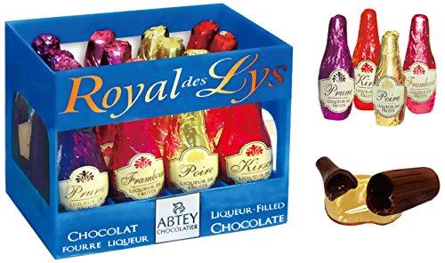 Abtey - Chocolate Royal des Lys - Caja de 12 chocolates con forma de botellas de licor