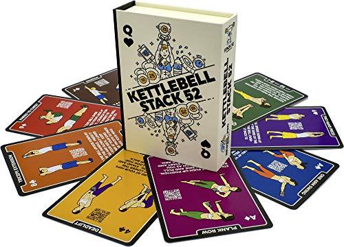 Pesa rusa Juego de cartas de entrenamiento–pesa rusa (pila de tarjetas por fuerza 52. Juego. Vídeo instrucciones incluidas. Aprender Kettle Bell se mueve y acondicionado taladros. Home Fitness programa de formación.