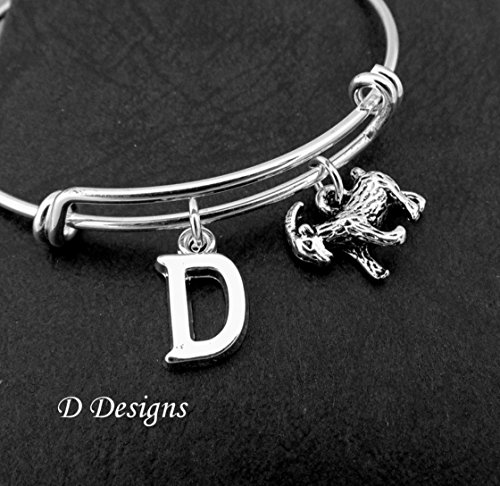 Goat Bangle Stainless Steel Personalised