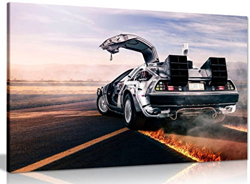 Back to the Future Delorean Wall Art, Choice of Sizes