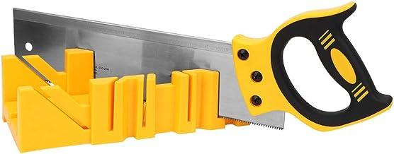 Caja de sujeción de plástico con sierra, Sierra inglete Sierra de acero de aleación abierto y apaga la caja de inglete con acero de aleación Sk5