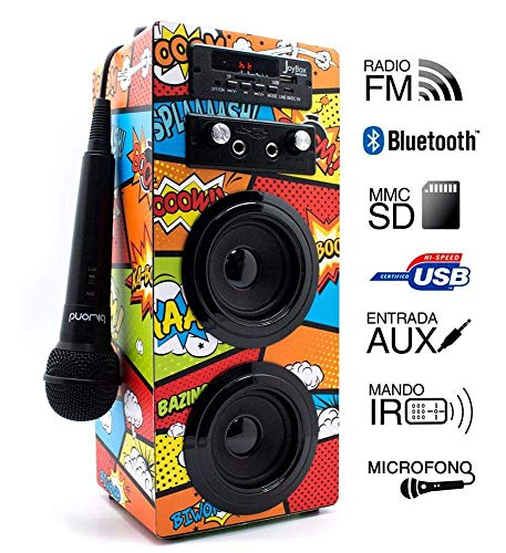 Enciende tu JoyBox, conecta cualquier dispositivo, y ajusta su ecualizador a tu gusto, sube los graves para dar un sonido más envolvente , o destaca los agudos si lo que prefieres es un efecto más real y acústico , con más de 9 modos diferentes !! Y ...