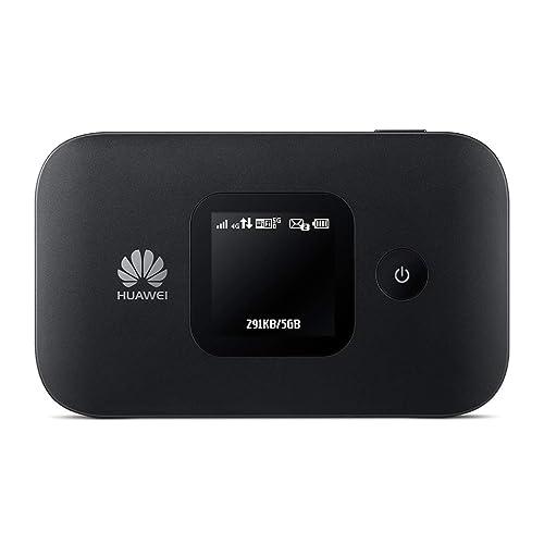 Huawei E5577 noir 4G LTE 150 mégabit/s Modem Hotspot WiFi USB, Batterie 1.500 mAh, 2 x TS9