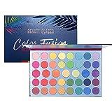 Beauty Glazed Paleta de polvo de sombra de ojos de 39 colores Brillo Sombra de ojos dorada brillante...