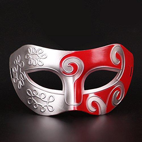 Máscara de Halloween maquillaje danza show jazz Baron hombres antiguos pintados máscaras antiguas,rojo