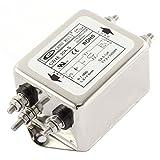 uxcell AC電源ラインEMIフィルタ CW4E-30A-S 単相ノイズ AC 115/250V