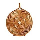 bolsa de bambú,Bloomma Bolso tejido hecho a mano del verano del bolso de la playa del verano del estilo occidental