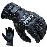 PROANTI Motorradhandschuhe Leder kurz Motorrad Handschuhe - Größe XXL