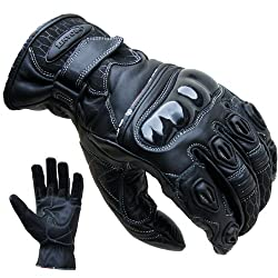 Motorcycle Gloves PROANTI® Leather short Motorcycle Gloves (size S-XXL black)
