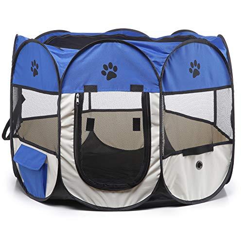 Tenda per animali domestici, box per cuccioli pieghevole box per animali Oxford box per animali portatile per cani gatti conigli piccoli animali, tenda per giochi per gatti all'aperto e tunnel