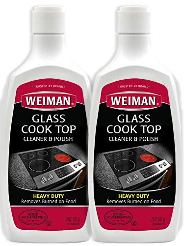 Weiman Glass Cook Top Cleaner and Polish  20 Ounce 2 Pack Heavy Duty NonScratch Glass Ceramic Safe NonAbrasive Stovetop Cooktop Cleaner