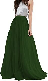 CoutureBridal Women's Bridal Prom Tulle Long Skirt Party Floor Length Customizable