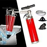 Air Pressure Drain Blaster Cleaner Plunger Kits Air Drain Blaster Augers Gun Plunger Detachable Assembly Sewer Pump High Pressure Plunger for Toilet Dredge Clog Remover Bathtub Shower Toilet Kitchen