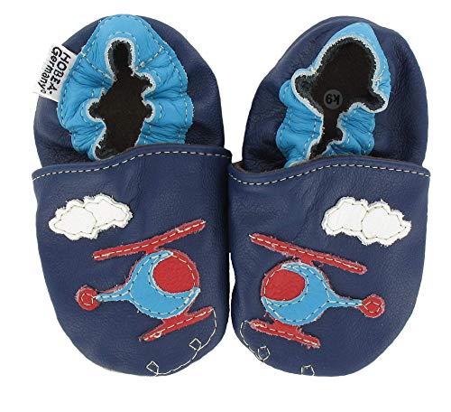 HOBEA-Germany Baby Krabbelschuhe Jungen, Schuhgröße:20/21 (12-18 Monate), Modell Schuhe:Hubschrauber Hubi
