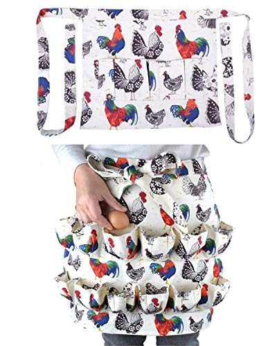 Egg Apron 2 PackAdult 12 Pockets  Child 3 Pockets Gathering and Collecting Chicken Duck Goose Egg Suitable for Housewife Farmhouse Kitchen Restaurant Parent-Child Activities