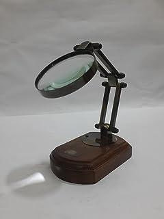 THORINSTRUMents (مع الجهاز) Antique Table مكبر فيكتوري-تكبير زجاجي بحري