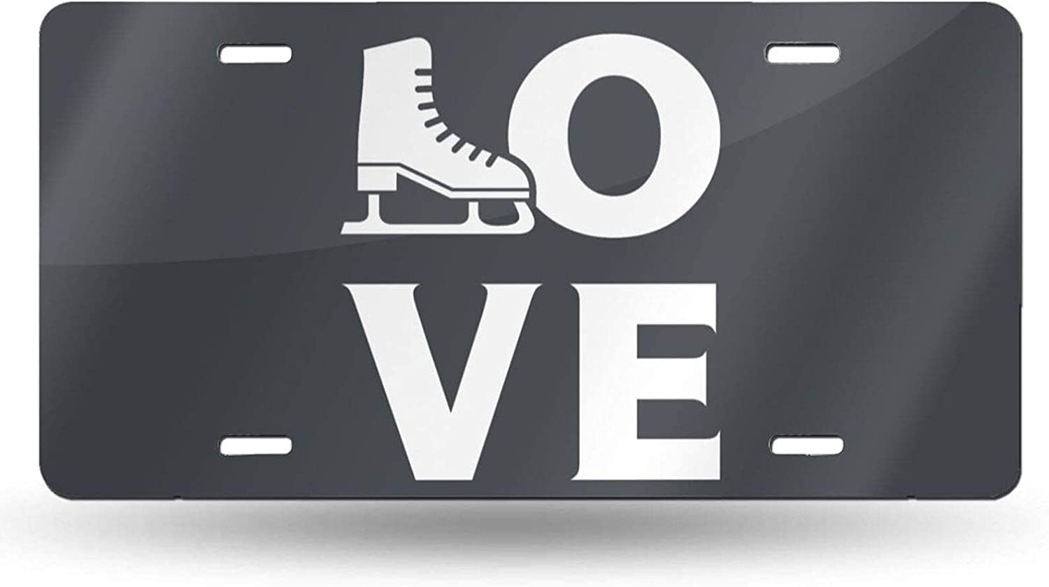Love Ice Skating Novelty License Year-end annual account famous Plate Vanity Cover Metal Tag fo