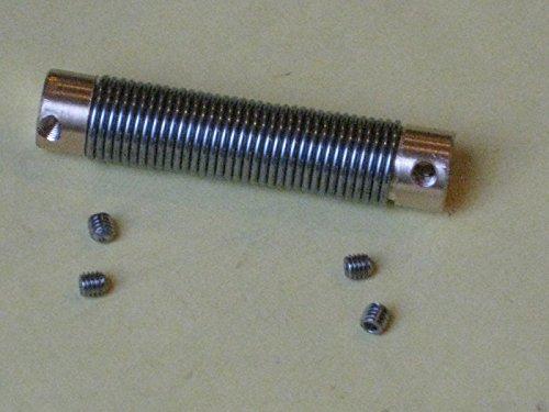 Federkupplung Wellenkupplung Coupler alle größen von 2,0 bis 6,0 mm MB 2597 (2,0x2,0 mm)