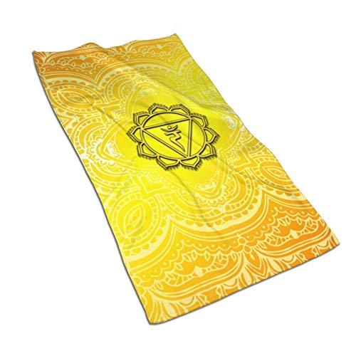 URMOER Solar Plexus Chakra Mandala Muy Absorbente Toalla de Mano 40x70cm Ultra Absorbente Viaje Deporte Toallas