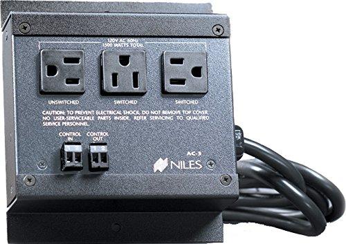 Niles AC3 FG00242 Voltage Triggered AC Power Strip (Black)