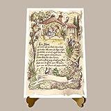 Die Staffelei Geschenk-Bild zur Hauseinweihung, Zeichnung mit lustigem Gedicht, Einzug ins Neue Heim A4 Bild-Präsent zum Jubiläum, personalisiert durch Wunschname -