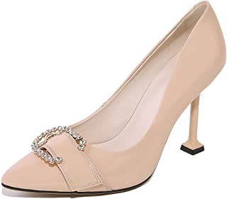 BalaMasa Womens Dance-Ballroom Beaded Dress Urethane Pumps Shoes APL11348