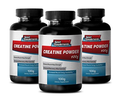 Best Creatine Pills - Creatine Powder 100mg - Promote Natural Performance with Supreme Creatine Powder (3 Bottles)