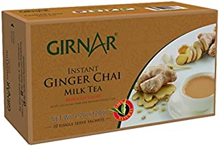 Girnar Instant Chai (Tea) Premix With Ginger Unsweetened, 10 Sachet Pack