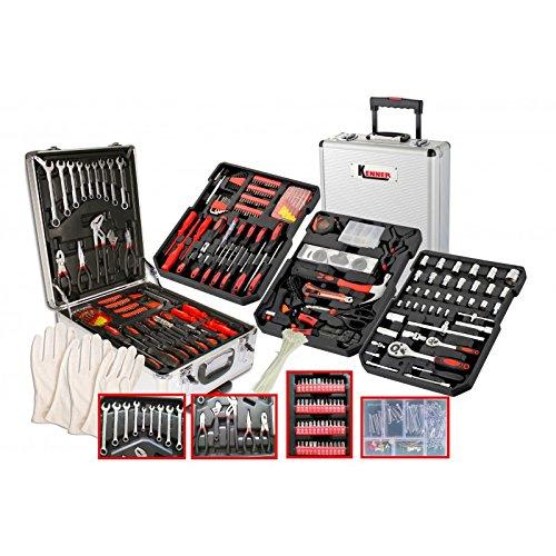 KENNER ke25127Coffret maleta XXL 804piezas de herramientas con ruedas, Gris