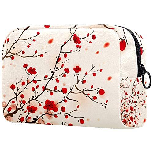 Oosterse Stijl Schilderij Pruim Blossom In SpringSmall Make-up Tas voor portemonnee Reizen Make-up Pouch Mini Cosmetische Tas voor Vrouwen