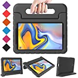 BMOUO Kids Case for Samsung Galaxy Tab A 8.0 2018 SM-T387, Shockproof Light Weight Protective Handle Stand Kids Case for Galaxy Tab A 8.0 Inch 2018 Release SM-T387 - Black