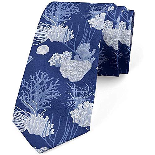 Mathillda Heren stropdas, verschillende vormen zeekoraal, lavendel deken blauw perfecte geschenken voor mode stropdas